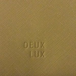 NWT DEUX LUX MESH YELLOW LARGE PURSE W/POUCH +TAGS